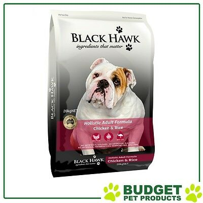 Black Hawk Holistic K9 Dry Chicken And Rice For Adult Dogs 20kg