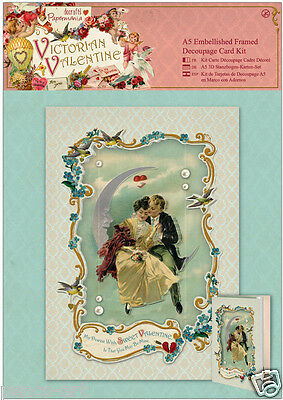 Docrafts Papermania A5 3D card kit Victorian Sweet Valentine love lovers loving