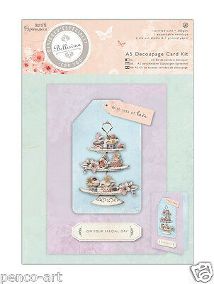 Docrafts Papermania A5 die cut decoupage card kit Bellisima cupcakes cup cakes