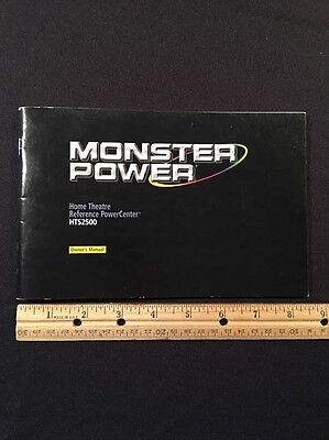 Monster Power HTS2500 Original Owners Manual 37 Pages