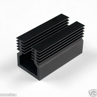 SS390  Aluminum Black Heatsink Heat Sink Audio Amplifier