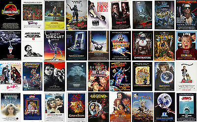 Classic Vintage Movie CANVAS ART PRINT Goonies ET Jaws Taxi Labyrinth Jurassic