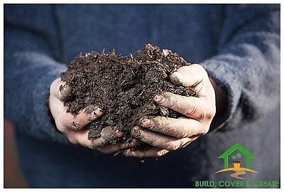 Horse Manure Compost Well Rotted Organic Mulching Huge 500kg Builders Bag