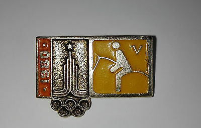 Equestrian 1980 Summer Olympics Games of the XXII Olympiad Square Badges Moscow