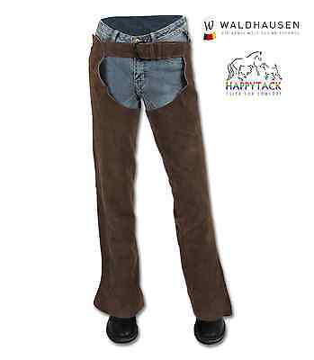 New Waldhausen German High Quality Black Suede Full Length Chaps 3191101