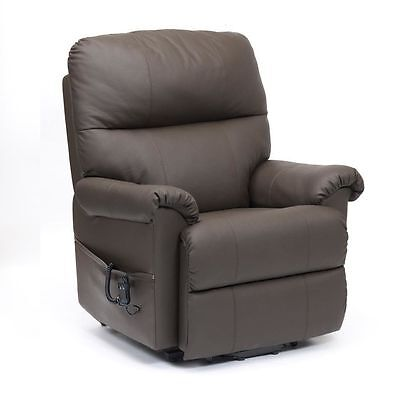 Restwell Borg leather rise recliner electric mobility chair