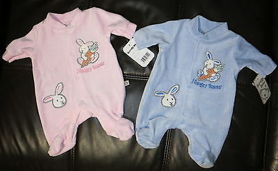 Premature Baby Boy Girl velour sleepsuit Babygro all in one romper 3/5/8 lbs NB