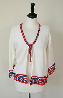 Vintage Cream Knit Cardigan - 1970s - UK 12