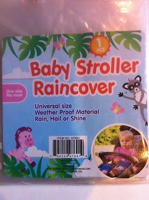 Baby Infant Stroller Rain Wind Cover Clear One Size New