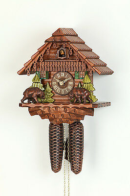 Original 8-Day Cuckoo clock,Kammerer,Black Forest house,Bears (i). Hand made