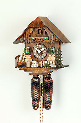 Original 8-Day Cuckoo clock,Kammerer,Black forest house,expensive decorated,