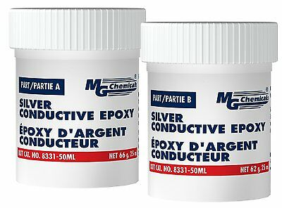 MG Chemicals 8331-50ML 2-Part Electrically Conductive Silver Epoxy Adhesive