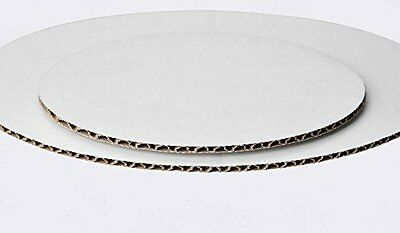"""100 Pack Round Cake Pad Non Grease Proof  Corrugated Paper Board 10"""" White Move"""