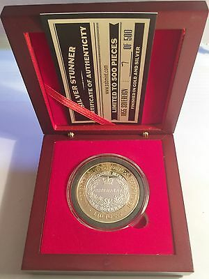 "NEW 2016 1855 Sovereign ""Silver Stunner"" Coin & Display Box C.O.A. LTD 500"