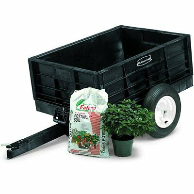 Rubbermaid Commercial FG566261BLA Unassembled Structural Foam Tractor Cart,