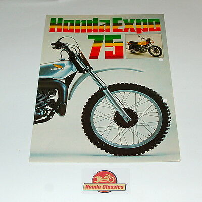 Honda Sales Brochure 1975 New Models CB750F CD175 TL250 CR250M Etc. HSB0004