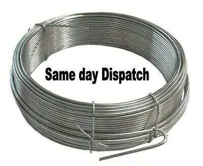 Galvanised wire heavy duty metal fencing wire outdoor various lengths
