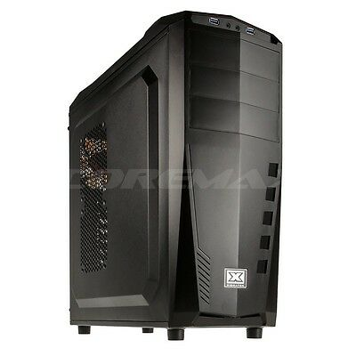 Case Xigmatek Mach Middle Tower Cabinet Pc Atx Black Con Ventola 120Mm Led White