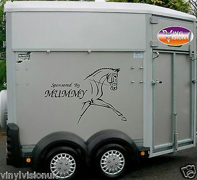 Horsebox Lorry Trailer Horse Stickers Decals Graphics Sponsored By Mummy