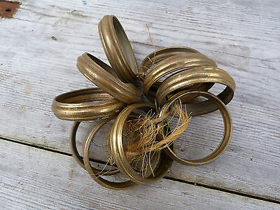 Antique 1900/1930 batch of 10 big French brass curtain rings
