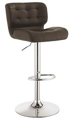 Adjustable Brown Tufted Upholstery Bar Stool by Coaster 100544 - Set of 2