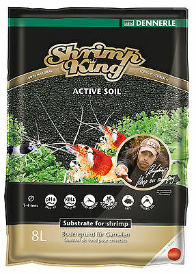 Dennerle Shrimp King Active Soil - 8L Substrate for Soft Water Shrimp