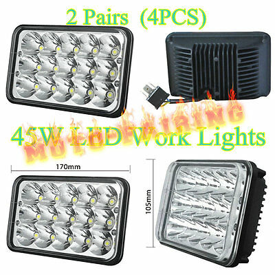2Pair LED Headlights For Kenworth T400 T600 T800 W900B W900L Classic 120/132 HK