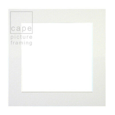 Single Individual Square Picture Photo Mount,Pack of 1, Choose Size and Colour