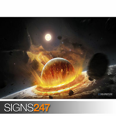 Space Photo Picture Poster Print Art A0 A1 A2 A3 A4 3120 FUTURE PLANET