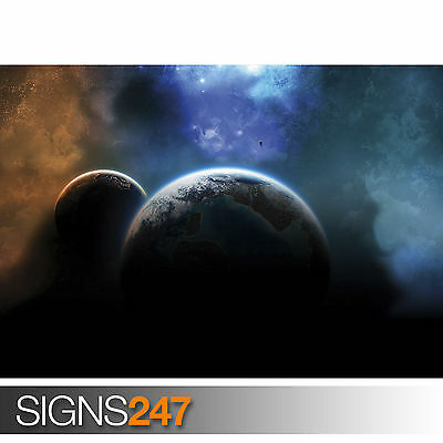 Space Photo Picture Poster Print Art A0 A1 A2 A3 A4 3091 DISTANT GALAXY