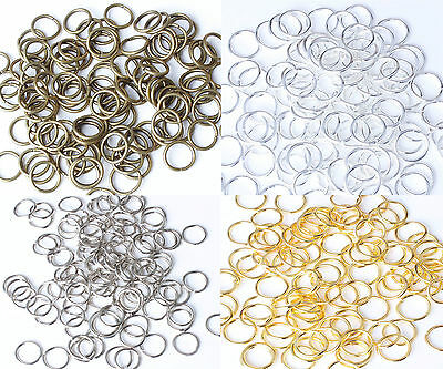 Vintage Bronze, Gold, Platinum & Silver plated Metal JUMP RINGS 5,6,7,8,9,10mm