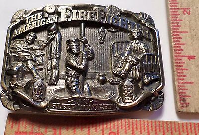 1986 American Firefighter belt buckle vintage collectible old clothing accessory