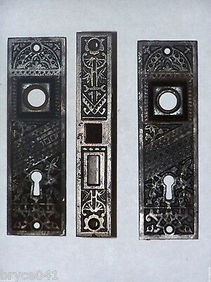Antique Victorian Eastlake Mortise Lock Set