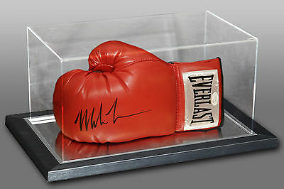 Mike Tyson Signed Everlast Boxing Glove Presented In An Acrylic Case JSA : A