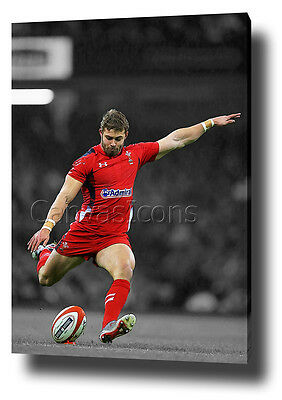 Leigh Halfpenny Canvas Art Print Poster Photo Wall Art Six Nations 6 Wales Rugby