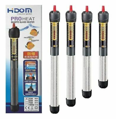 Hidom PROHEAT Quartz Submersible Aquarium Fish Tank Heater Thermostat 25 - 500w