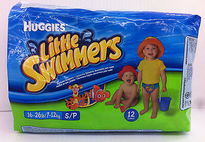 Huggies Little Swimmers Disposable Swimpants Small 16-26 lbs 12 Count