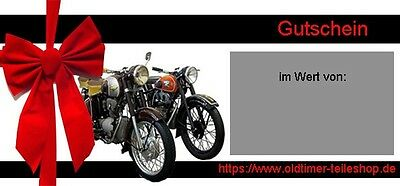 coupon shopping voucher for Spare parts from Vintage motorcycles all Type