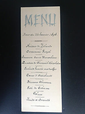 Ancien menu 1898
