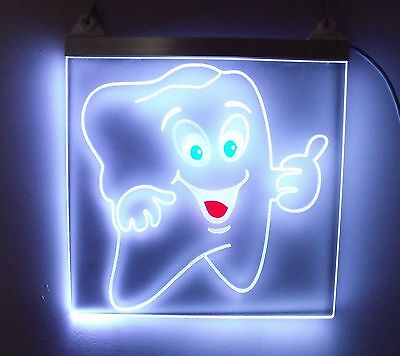 Lighting Control Rgb Ultra Bright Dental Front Office Acrylic Sign. Dental Sign.