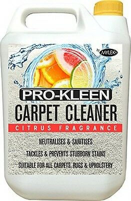 Carpet Cleaning Solution Odour Extraction Remover Upholstery Cleaner Shampoo 5L