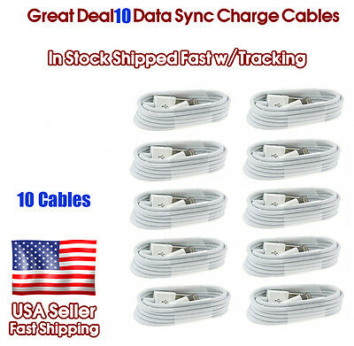 TEN iPhone Cables Charger and Sync for iPhone 5 5c 6 6 Plus iPhone 6s Cable
