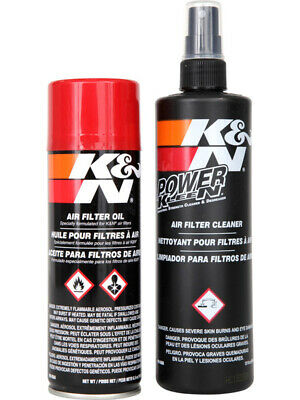 K&N Air Filter Recharger, Cleaner + Aerosol Spray Oil Service Kit (99-5000)