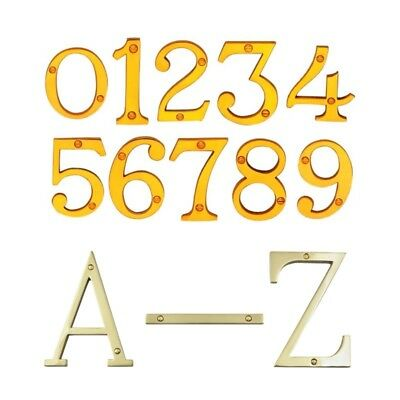 Zanda Door House Number Letter #0-9 A-Z Victorian Style 50-150mm SC PB