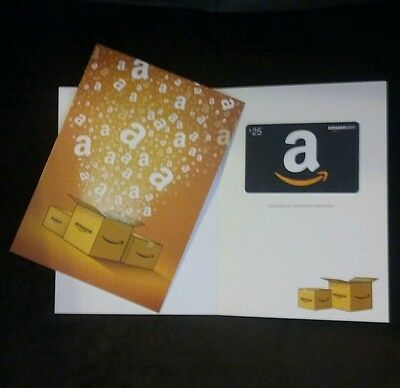 $25 Amazon Gift Card With Free Amazon Boxes Greeting Card (Free Shipping)