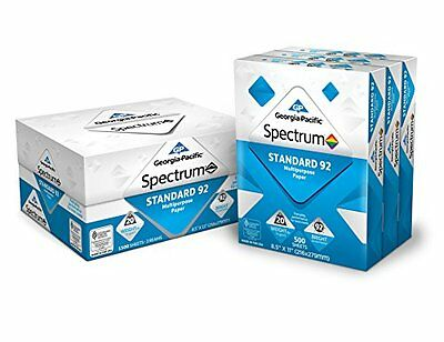 Printer Paper Standard 92 Bright White Multi Purpose 1500 Sheet Letter Office A4