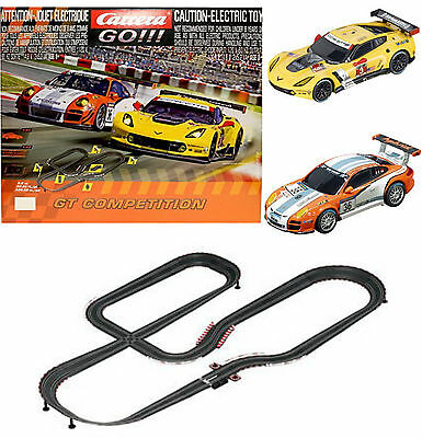 Carrera Go GT Competition Electric Slot 1:43 Car Set Kit Porsche Corvette | NEW