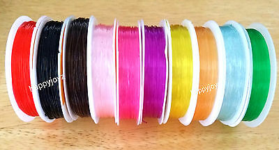 1 roll of 10 M Elastic Stretch Thread Clear String Cord Bead Necklace Jewellery