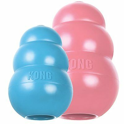 Kong Puppy Classic dog Toy extra small medium large rubber chew treat PINK
