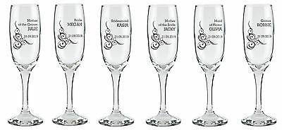 Personalised Engraved Flutes Glass Wedding Favour Gift Bridesmaid by jevge 13